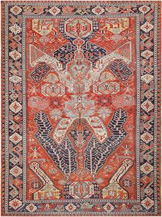 Dragon Soumac carpet Caucasus late 19th century size approximately 7ft. 7in. x 10ft.