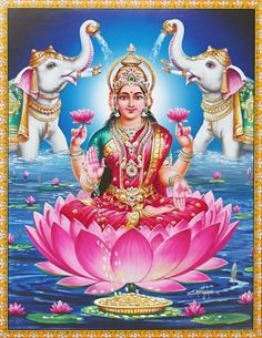 Lakshmi is the Hindu god of wealth, fortune & prosperity and also the wife of Lord Vishnu. Here is a collection of Goddess Lakshmi Images & HD wallpapers. Indian Goddess, Goddess Lakshmi, Deus Vishnu, Lakshmi Statue, Lakshmi Images, Lord Shiva Family, Hindu Culture, Lord Vishnu Wallpapers, Tanjore Painting