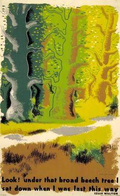Poster; Look Under that broad Beech tree, by Edward McKnight Kauffer, 1932