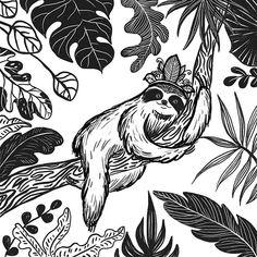 This is a story about a sloth who didnt rush and became a kind as a result :) #folktaleweek2019 #folktaleweekcrown  #evgeniyapautova #wowyellow #wowyellow_art #jungleinsideout #sloth #babysloth #slothlife #slothlifestyle #jungleart #illo #fairytaleart #kidlitart#childrenillustration #picturebook #artstory #jungleanimals #slothsunday #slothart #tropicalart #childrensbookstagram #folktaleweek #goillo #makeartthatsells #matsicb Jungle Art, Jungle Animals, Baby Sloth, Art Story, Yellow Art, Tropical Art, Fairytale Art, Sketches, Sketch