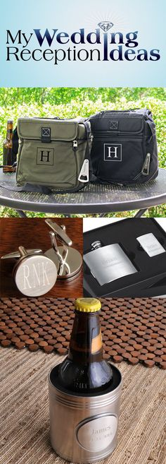 """Unique and functional gifts are your best bet when looking for gift ideas for your groomsmen. I timeless, personalized gift they can use and show off to their friends is the best way to say """"thanks"""" to your best man, groomsmen and ring bearer."""