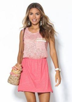 Šaty zo striekaného úpletu #ModinoSK #pink #paste