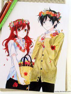 horimiya manga -one of my favourite manga ever Anime Love Couple, Cute Anime Couples, Manga Art, Anime Manga, Crown Drawing, Anime Nerd, Hibi Chouchou, Estilo Anime, Horimiya