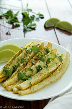 Healthy cilantro lime squash fries that are easy to make and are super-delicious! Perfect for snacking or as a side dish! Paleo and whole 30 friendly!