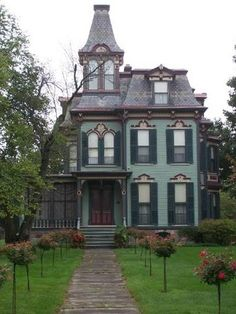 Victorian house with a widows peak