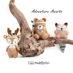69 отметок «Нравится», 3 комментариев — Madelenón (@handmadelenon) в Instagram: «Have a lovely Sunday! . . . #amigurumi #amigurumis #weamiguru #crochet #bear #fox #deer #forest…»
