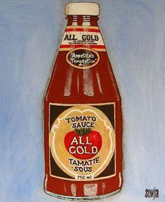 Sonja Peacock Art: All Gold Tomato Sauce