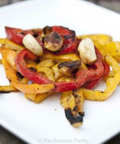 Clean Eating Recipes | Clean Eating Tri-Color BBQ Bell Peppers