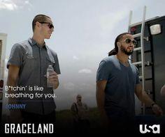 It's DJ's specialty.  #GracelandTV