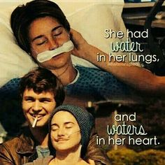 The Fault In Our Stars John Green<<<the quote is utterly beautiful only the ones who watched the movie will understand!its a must!