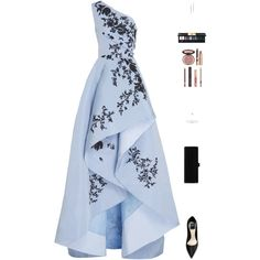 Sin título #4865 by mdmsb on Polyvore featuring moda, Monique Lhuillier, Edie Parker, Rina Limor, Yves Saint Laurent and Charlotte Tilbury