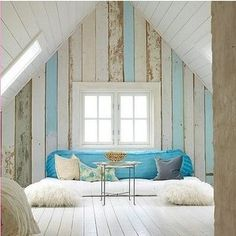 <3 the painted wood going vertical down the wall