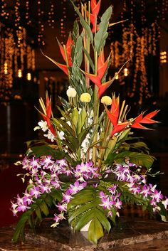 Flower arrangements in hotel,...