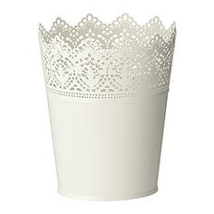 IKEA - SKURAR, Plant pot..buy a few of these to put coloured pencils, brushes, and markers in