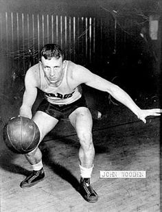 """""""The wizard of Westwood."""" A three time All-American at Purdue U (pic; silver object in his left shoe is his locker key). Coached at Indiana State U. for two seasons. Left for UCLA where he won ten National Titles. Purdue Basketball, Indiana State, Looking Back, Martinsville Indiana, 30th, Culture, Running, American, Locker"""
