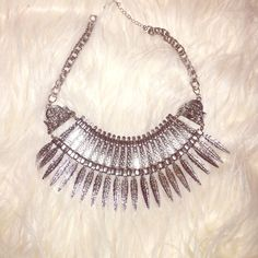 Silver Necklace  From Necessary Clothing. Love this statement necklace  Necessary Clothing Jewelry Necklaces