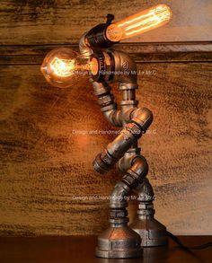 plumbing heating jobs,  plumbing upstairs bathroom,  plumber shop near me,  plumbing tape for shower head,  stemmle plumbing google reviews,  plumbing a toilet in basement,  plumber burnley,  plumbing code book canada,  plumbing an outside tap into garage,  plumbing a bathroom sink diagram parts. Pipe Lighting, Rustic Lighting, Industrial Lighting, Urban Industrial, Industrial Style, Bedside Lamps Rustic, Steampunk Table, Lampe Edison, Best Desk Lamp