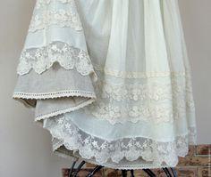 Купить Шикарная летняя юбка с кружевом и льняным подъюбником. - летняя юбка с кружевом