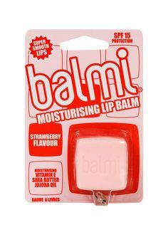 Balmi Cube Lip Balm in Strawberry