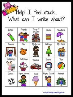 So often kids get stuck trying to think of ideas during writing! Here is a FREEBIE poster and mini-posters to help get a jump start on writing ideas! I have a copy hanging at the writing center and also I made copies to keep in student folders! Hope it can be helpful for you and your classroom!