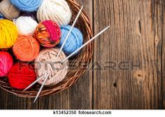 Balls of yarn View Large Photo Image
