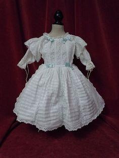 Image result for images of antique white dolls dresses