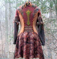 Patchwork felted coat