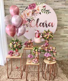 Decoration Buffet, Birthday Parties, Happy Birthday, Elegant Birthday Party, Bridal Shower, Baby Shower, Ideas Para Fiestas, Gold Party, Balloon Decorations