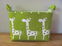 LARGE Fabric Organizer Basket Storage Container by hipbabyboutique, $18.00