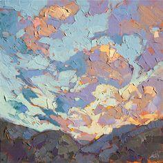 Lavender Winds, original oil painting by landscape artist Erin Hanson