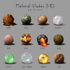 Material Studies #01, Silvia Lunastorta on ArtStation at https://www.artstation.com/artwork/rdD2E