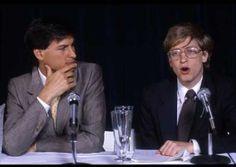Steve Jobs and Bill Gates. NY. 1985.