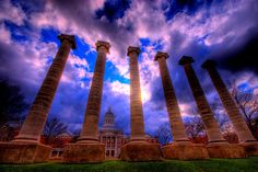 The Columns.  University of Missouri-Columbia campus.