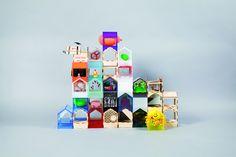 Viele kleine Häuser, die ein Ganzes ergeben: Jeder Partner von Make Architects fertigte sein eigenes Modell