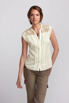 Vintage Lace Underpinning Shirt | Eddie Bauer $69.95 #GIMC soo expensive!! gah....