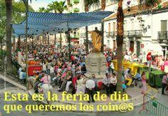 FOTOS DE COÍN.: Firma para que la feria de dia de Coín no la trasl...