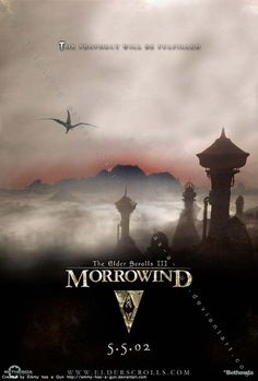 Here's a poster for Morrowind to go along with my Skyrim and Oblivion posters. Morrowind is my all time favorite game so I wanted to make sure this one . Elder Scrolls Morrowind, Elder Scrolls Skyrim, Video Game Posters, Video Games, Movie Posters, Epic Games, Best Games, Arrow To The Knee, Elder Scrolls Games