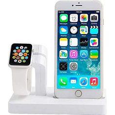 nice Base de carga para iPhone, Xphonew 2 en 1 con soporte para el Apple Watch, compatible con iPhone Plus Apple Watch, Iphone 7, Support Iphone, Dodge, Magnum, Phone Gadgets, 6s Plus, Cell Phone Accessories, Smartphone