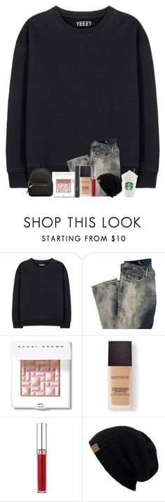"""Dressing up for winter."" by rabianasir-24 ❤ liked on Polyvore featuring adidas Originals, Diesel, Bobbi Brown Cosmetics, Christian Dior, Laura Mercier, Anastasia Beverly Hills, C.C and MANGO"