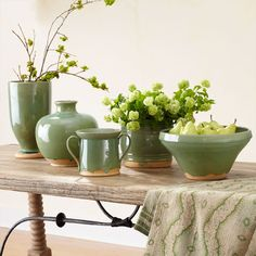 vignette of sage green pottery pieces Round Vase, Little Corner, French Country Cottage, Country Living, Colour Board, Traditional Design, Shades Of Green, Green Colors, Decoration