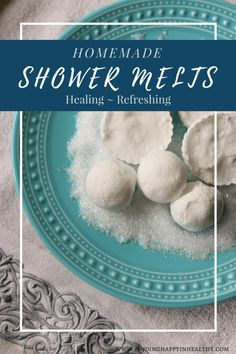 Homemade Shower Melts- made with essential oils and easy to make.