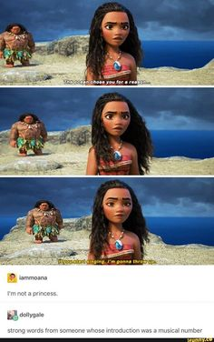 It's a Disney movie! (Even though I did laugh at that part in Moana. And in enchanted when Robert was confused about everyone knowing the lyrics to song) Disney Magic, Disney Pixar, Walt Disney, Disney Jokes, Funny Disney Memes, Disney Fun, Disney Animation, Disney And Dreamworks, Funny Memes