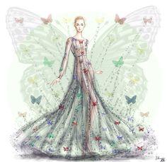 Butterfly effect- Maison Valentino pre fall 2015. Shamekh Bluwi
