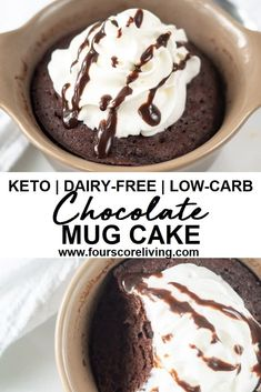 With just over 5 minutes and a few ingredients, you can have a fudgy, chocolatey low carb mug cake made from start to finish. It's perfect for when those occasional emergency chocolate cravings hit, and it's gluten-free and sugar-free too.