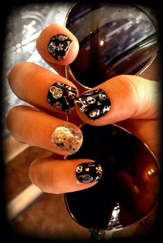Day of the Dead Manicure By Brooke $50.  Please inbox me for orders.  www.facebook.com/brookezaragoza1