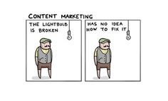 Jobs Explained With a Broken Lightbulb. Created by the Toggl Goon Squad https://www.templatemonster.com/blog/ joke