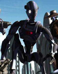 The Separatist war machine Droides Star Wars, Star Wars Droids, Star Wars Concept Art, Robot Concept Art, Star Wars Timeline, Trade Federation, Galactic Republic, Battle Droid, Star System
