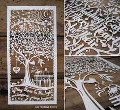Wedding Anniversary Papercut