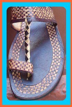 ARAWAK TRIBAL Summer Leather Sandals - Handmade - $95