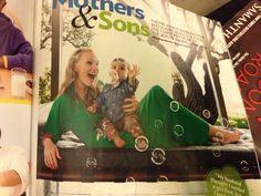 Mom and son + bubbles